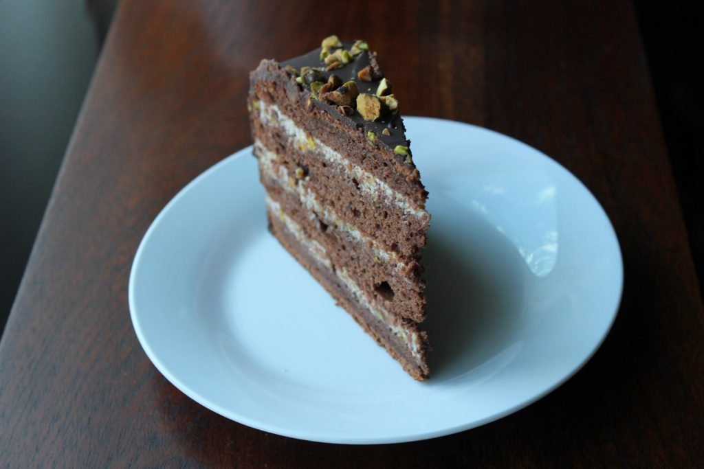 Chocolate Cassata Cake – cup spoon and spatula